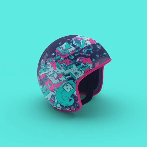 Concept Motorcycle Moped Bike Helmet