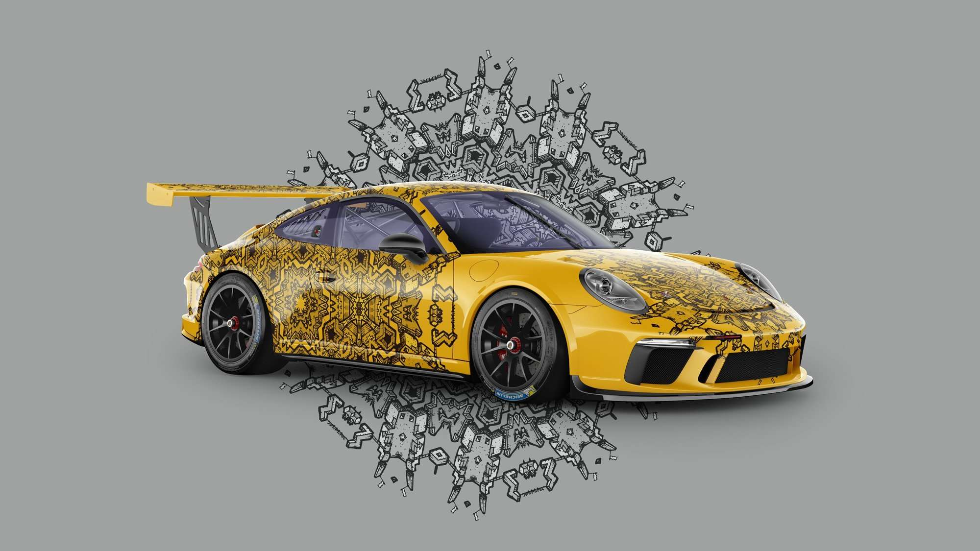 porche sports car fun concept all over skin