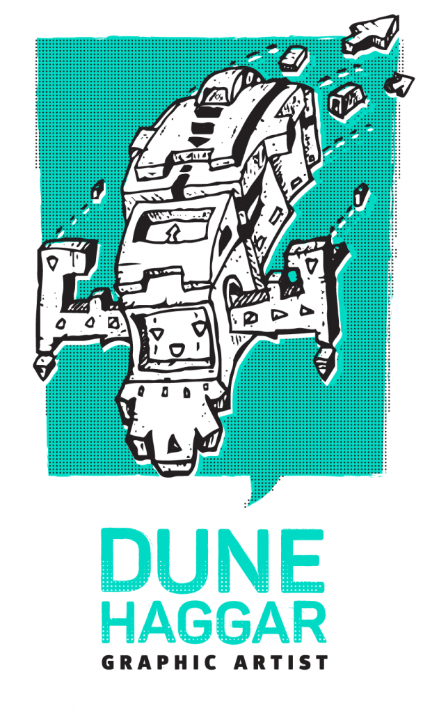 dune haggar graphic artist and illustrator logo